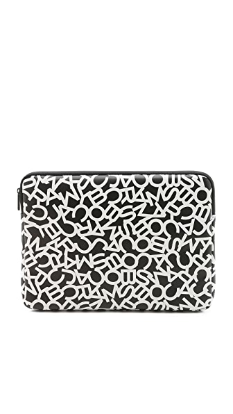 "Marc by Marc Jacobs Scrambled Logo Coated Neoprene Tech 13"" Computer Case"