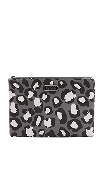 "Marc by Marc Jacobs Neoprene Print Leopard 13"" Zip Cutout Case"