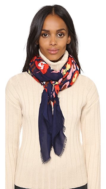 Marc by Marc Jacobs Graffiti Leopard Scarf
