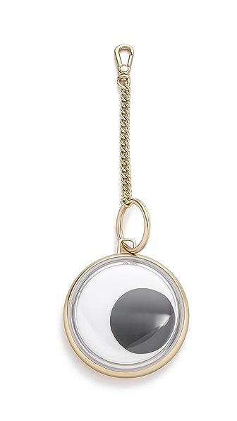 Marc By Marc Jacobs Big Googly Eye Bag Charm - Tumbled Pale Gold