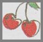 Off White Cherry Print