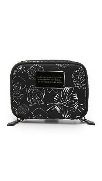 Marc By Marc Jacobs Laughing Flower Cosmetics Small Double Twin Pouch - Black Multi
