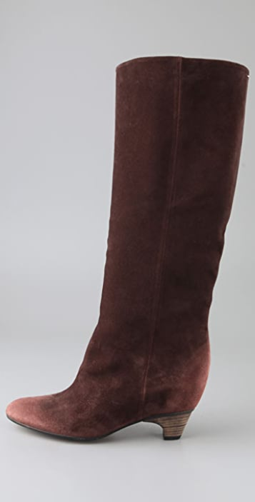 Maison Margiela Suede Boots on Hidden Wedge