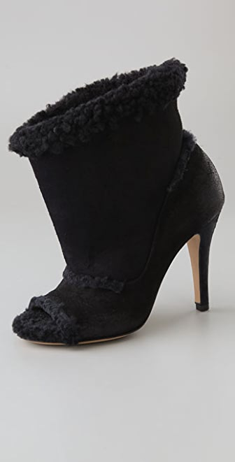Maison Margiela Open Toe Shearling Booties