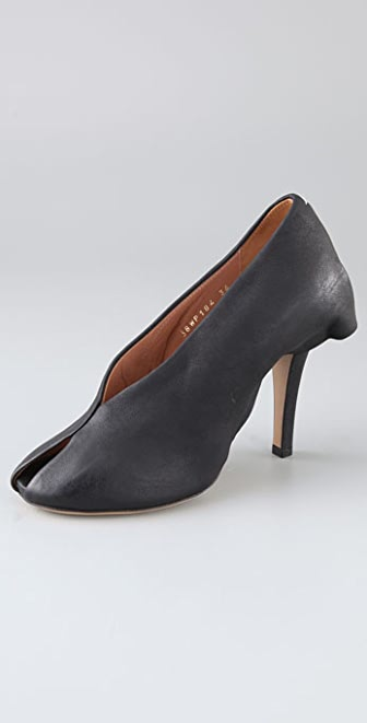 Maison Margiela Open Toe Skirted Pumps