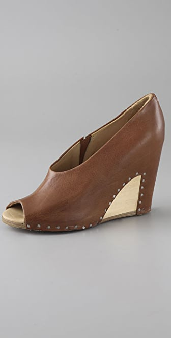 Maison Margiela Open Toe Wedge Pumps