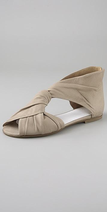 Maison Margiela Twist Front Flat Sandals