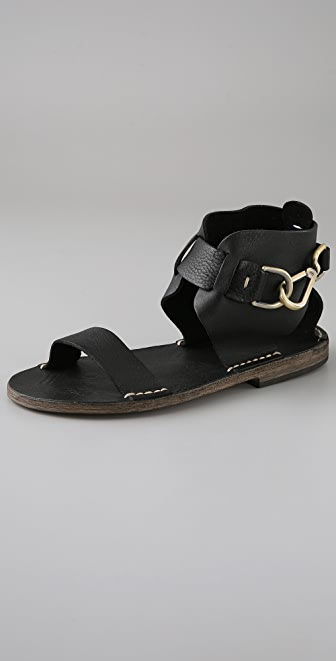 Maison Margiela Hook Buckle Flat Sandals