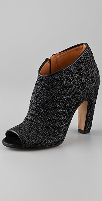 Maison Margiela Woven Rubber Open Toe Booties