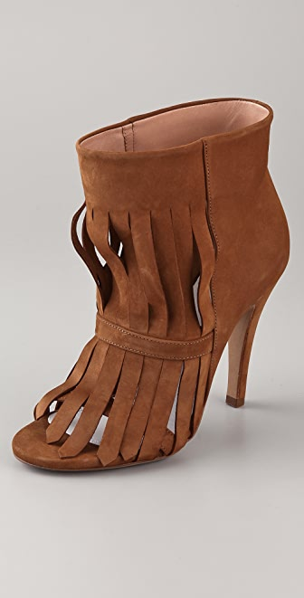 Maison Margiela High Heel Fringe Booties