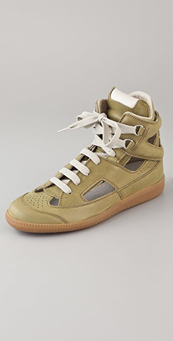 Maison Margiela Cutout High Top Sneakers