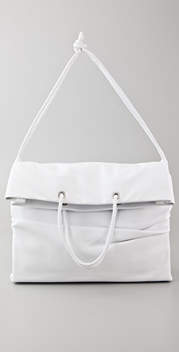 Maison Margiela Leather Fold Over Shopper