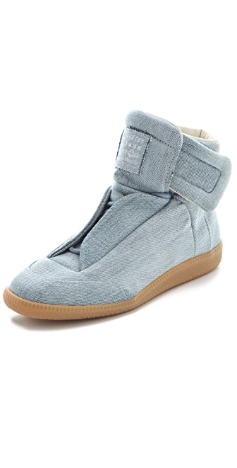 Maison Margiela Denim Flat Sneakers