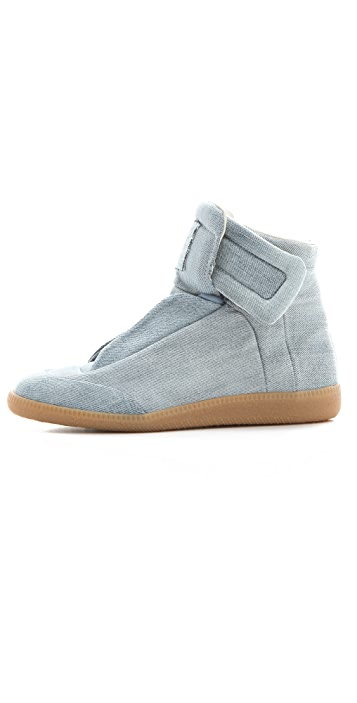 Maison Margiela Denim Flat Sneakers