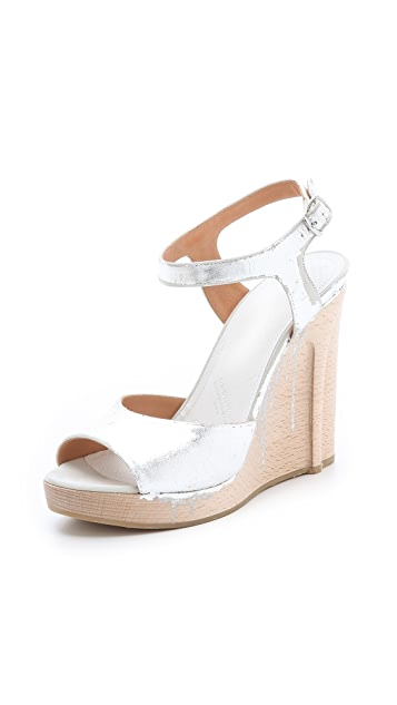 Maison Margiela Strappy Metallic Sandals