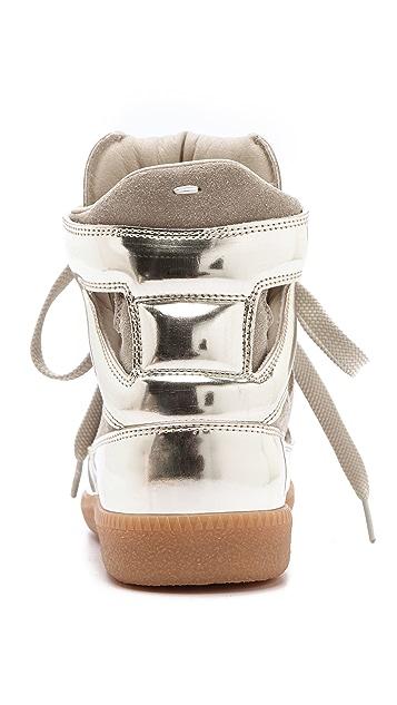 Maison Margiela Cutout Suede Sneakers