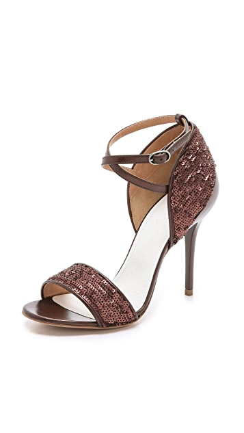Maison Margiela Sequin Heel Cap Sandals