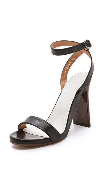 Maison Margiela Wood Grain Heel Sandals