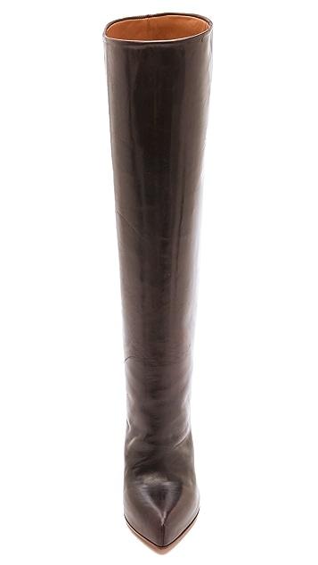 Maison Margiela Wood Grain Heel Leather Boots