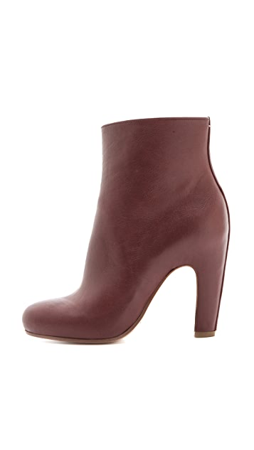 Maison Margiela Curved Heel Ankle Booties