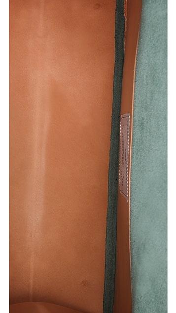Maison Margiela Leather Fold Over Tote