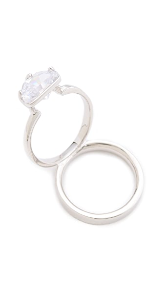 Maison Margiela Crystal Ring on Ring