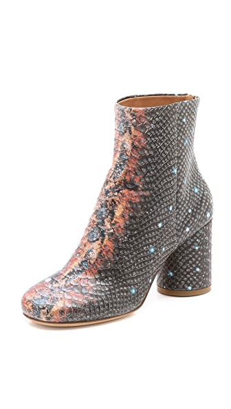 Maison Margiela Snake Embossed Booties