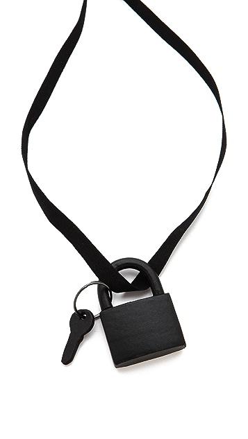 Maison Margiela Leather Key Lock Necklace