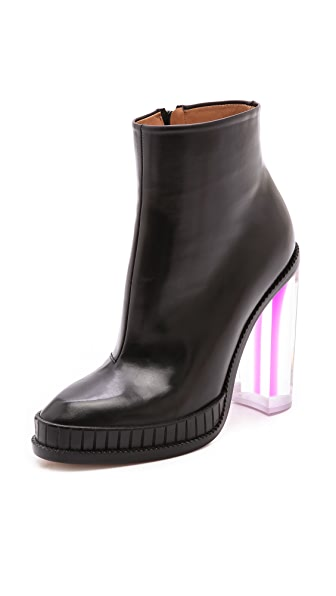 Maison Margiela Leather Boots with Shaded Plexiglass Heel