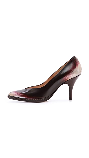 Maison Margiela Leather Brushed Effect Pumps