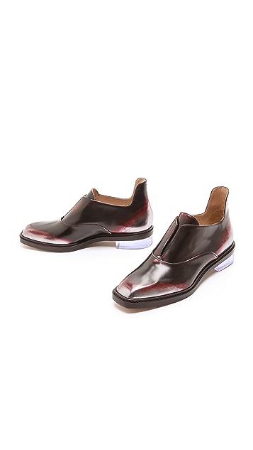 Maison Margiela Leather Brushed Effect Flats