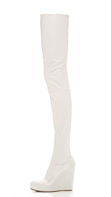 Maison Margiela Thigh High Wedge Boots