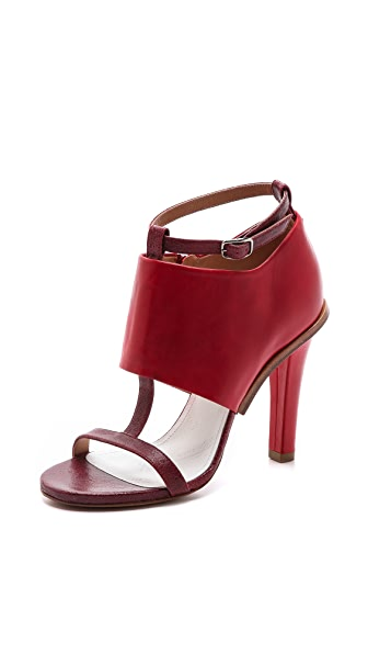 Maison Margiela Leather T Strap Heels