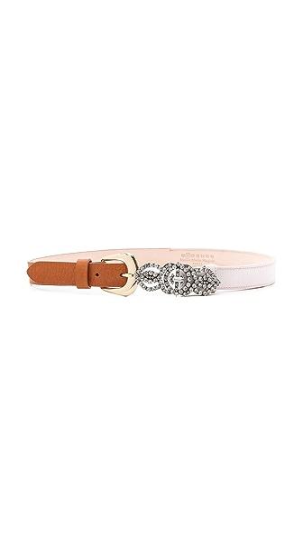 Maison Margiela Satin & Leather Belt