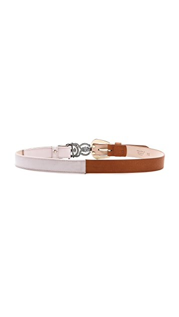 Maison Margiela Satin & Leather Belt