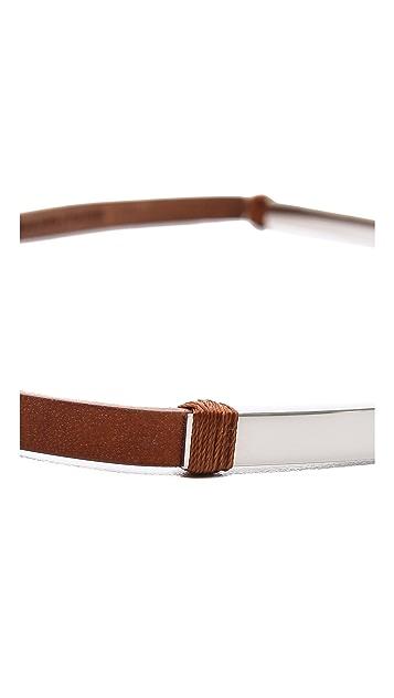 Maison Margiela Curved Bar Leather Belt