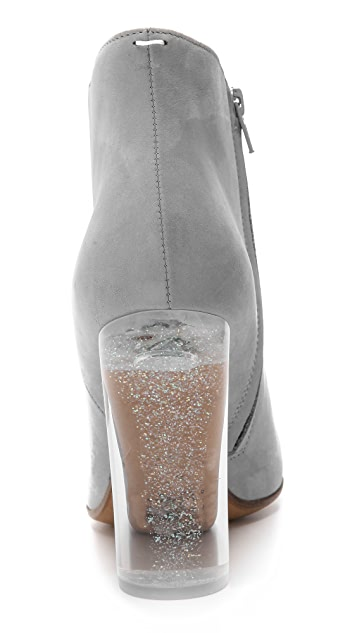 Maison Margiela Glitter Heel Leather Booties