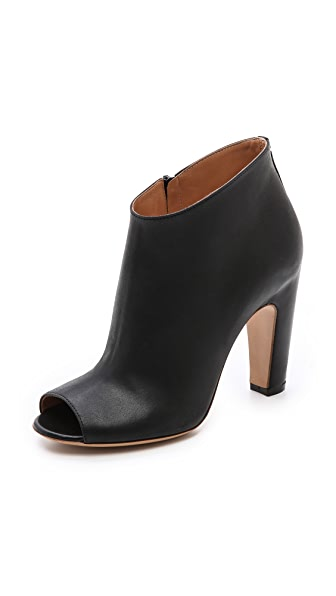 Maison Margiela Leather Open Toe Booties