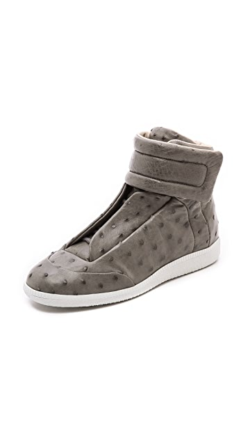 Maison Margiela Ostrich Leather Sneakers