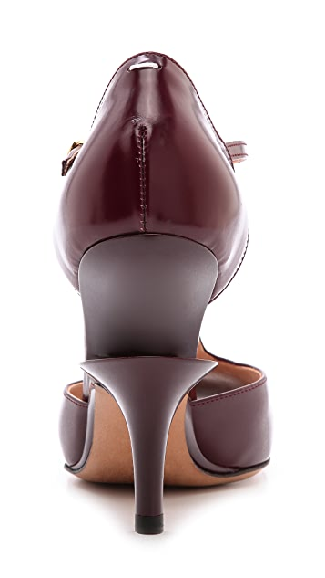 Maison Margiela Leather T-Strap Pumps