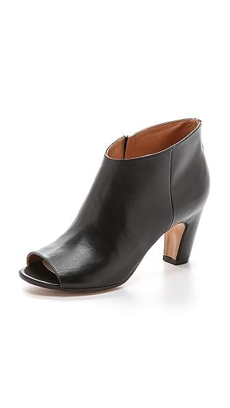 Maison Margiela Leather Peep Toe Booties