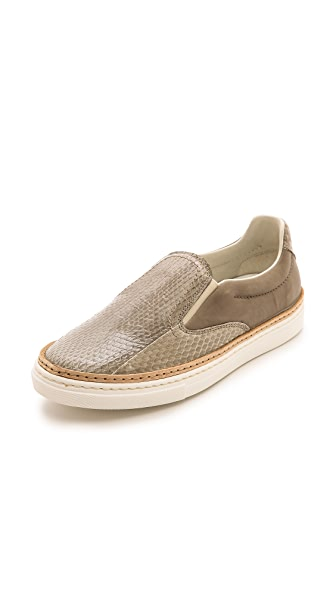 Maison Margiela Snakeskin Slip On Sneakers
