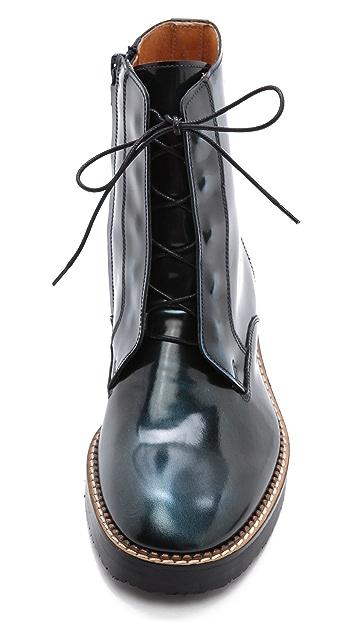 Maison Margiela Leather Combat Boots