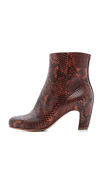 Maison Margiela Snake Printed Leather Booties