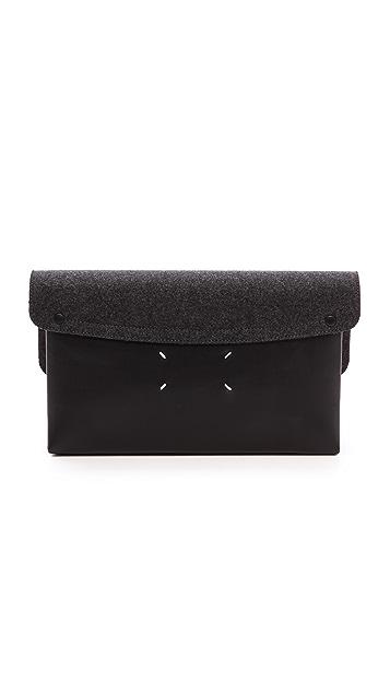 Maison Margiela Felt and Leather Clutch