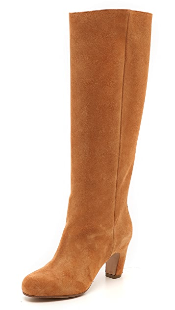 Maison Margiela Suede Knee High Boots