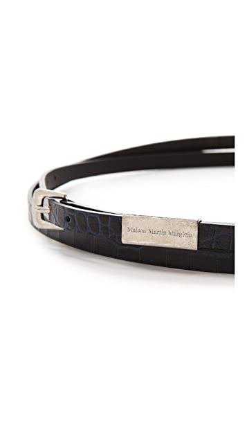 Maison Margiela Croc Embossed Wrap Belt
