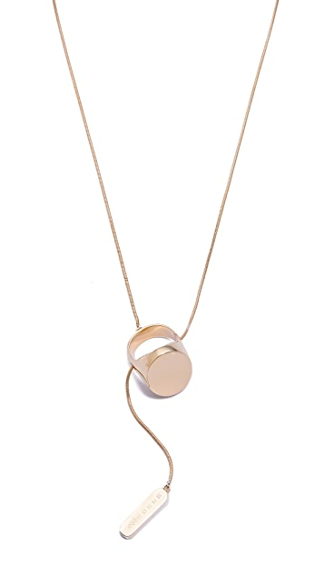 Maison Margiela Ring Lariat Necklace