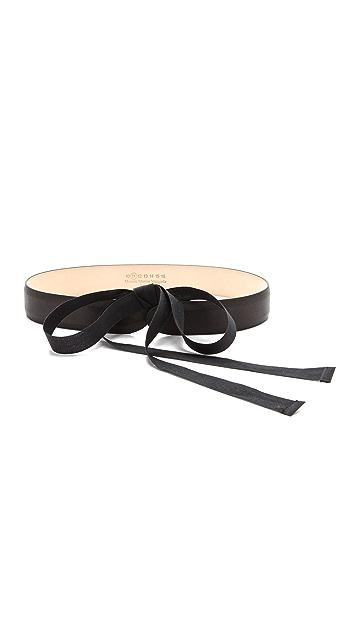 Maison Margiela Leather & Ribbon Belt