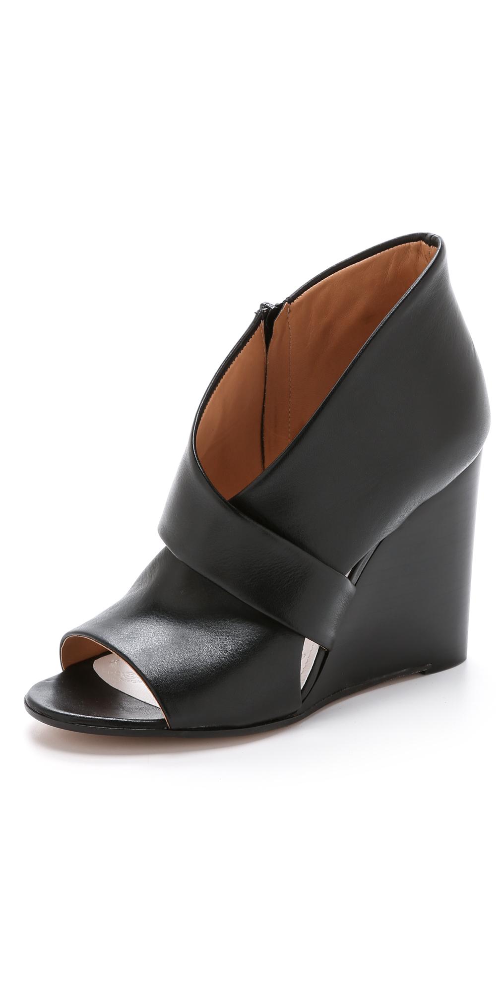 Maison Margiela Leather Wedges | SHOPBOP